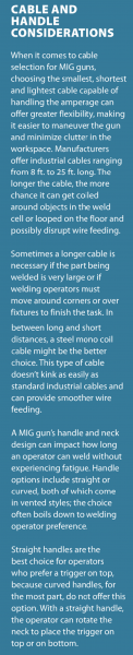 Cable and Handle Considerations