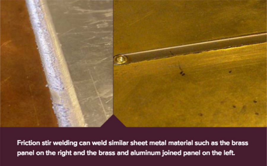 friction stir welding with various materials