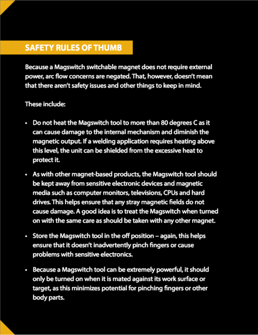safety rules sidebar