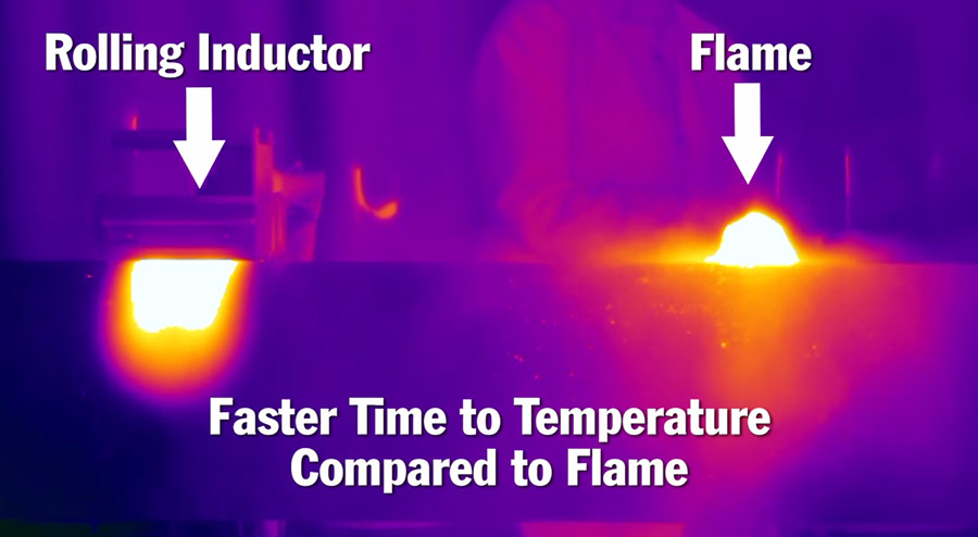 induction heating vs open flame